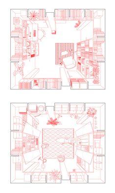 architektur diagramme Social Housing in Bern - Emiliano Lpez Mnica Rivera Arquitectos Social Housing Architecture, Architecture Graphics, Architecture Student, Architecture Drawings, Architecture Plan, Computer Architecture, Architecture Diagrams, Drawing Interior, Plan Drawing
