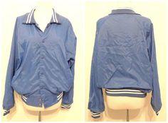 Blank Blue Bomber... @BibbysRocket @etsy #etsy #bibbysrocket #VintageJackets #BaseballJacket #DiscoJacket