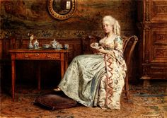 Afternoon Tea, by Edward Antoon Portielje