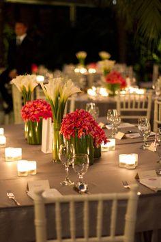 Tropical wedding done right.tropical and calla lillies mixed. Bali Wedding, Wedding Night, Wedding Reception, Our Wedding, Dream Wedding, Wedding Ideas, Wedding Stuff, Wedding Tables, Church Wedding
