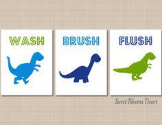 Dinosaur Bathroom Wall ArtDino Park BathDinosaur Bathroom