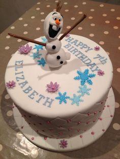 7th birthday Olaf cake Olaf Cake, Homemade Cakes, 7th Birthday, Desserts, Food, Tailgate Desserts, Deserts, Eten, Postres