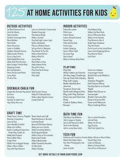 125 At-Home Activities for Toddlers, Preschoolers + Kids - Baby Foode