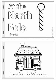 Christmas Math & Literacy Worksheets & Activities for Kindergarten. Lots of fun, interactive, no-prep pages for December. A page from the unit: Reader (color and B & W) with comprehension page