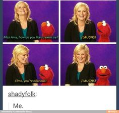 Elmo looks so confused in the last pic