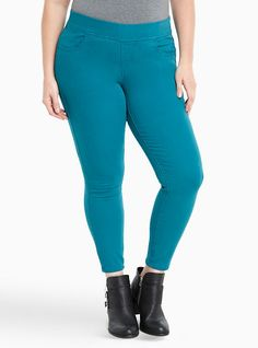 206b53e6747 Torrid Lean Jeans - Turquoise Wash