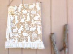 Spring Promises by Rose Baker on Etsy Fabric Garland, Garlands, Easter Banner, Pastel Decor, Easter Celebration, Cubbies, Happy Easter, Burlap, Cubby Hole