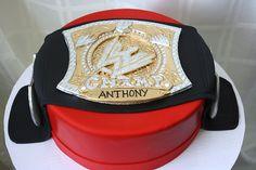 Wwe Belt Cake Wwe Cake Wwe Birthday Wrestling Birthday