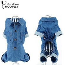 Us 652 12 Off New Leisure Jean Dog Clothes Pet Cat Puppy Soft Blue Coat Jacket Jumpsuits Dog Clothes Chihuahua 5 Size In Jumpsuits Amp Rompers From Pug, Chihuahua, Pet Style, Blue Jean Jacket, Puppy Clothes, Blue Coats, Dog Shirt, Pitbull, Jumpsuit