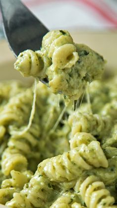 Looking to sneak more veggies into your meals? This broccoli pesto is the perfect addition to cheesy fusilli pasta. Looking to sneak more veggies into your meals? This broccoli pesto is the perfect addition to cheesy fusilli pasta. Veggie Recipes, Vegetarian Recipes, Cooking Recipes, Healthy Recipes, Easy Recipes, Green Tea Recipes, Dessert Recipes, Diner Recipes, Vegetarian Breakfast