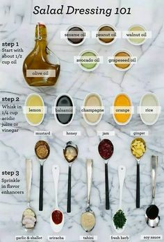 A fun salad dressing guide for those who want to make their own dressing. It is challenging to find a salad dressing that is completely type O friendly, so this can help you build your own at home for a fraction of the cost! Blood #TypeO food awesomeness!