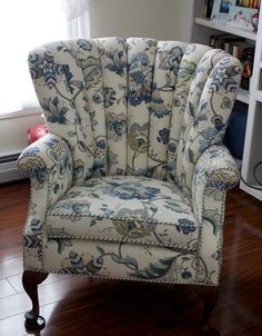 We did this great channel back upholstered chair for a client.  It has a twin that we will be doing soon.