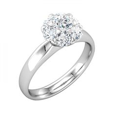 Beautiful and Lovely Round Diamond Solitaire Engagement Ring - http://www.mybridalring.com/Rings/classic-solitaire-engagement-ring-in-14k-white-gold/