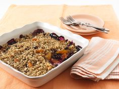 Dip your toes into fall with this Blueberry Peach Crisp.
