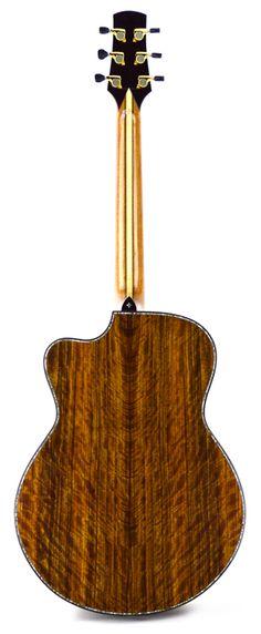 75 SJ Figured Ovangkol back Custom Guitars, Acoustic, Musicals, Muse, Inspiration, Biblical Inspiration, Musical Theatre, Inhalation, Motivation