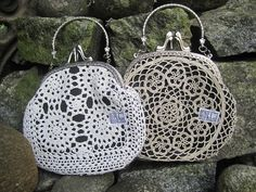 Unique handbags made ​​of lace. Risako. Ask for availability. Kysy saatavuutta Risakolta.