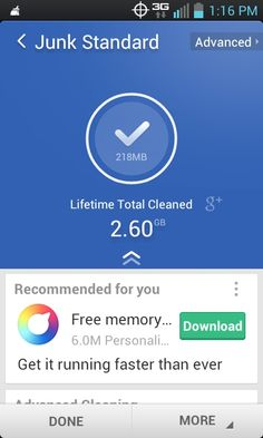 Clean Master #app in action. #Free for Android. #smartphone
