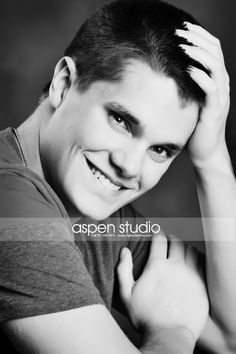 senior picture ideas for guys | Photo ideas / Black and white senior guy picture
