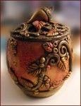 Autumn Faerie Treasure Jar