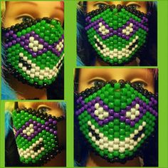 Ninja Turtle Kandi Mask Totally unique and only from www.iEDM.com