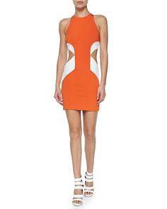 Geometric Colorblock Cutout Sheath Dress by Cushnie et Ochs at Neiman Marcus.