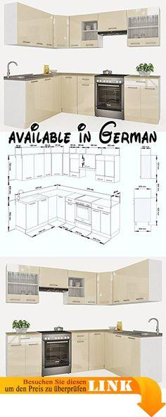 B071RF6NMH  Held Möbel 58016210 Mailand Küche Holzwerkstoff - küchenblock 260 cm