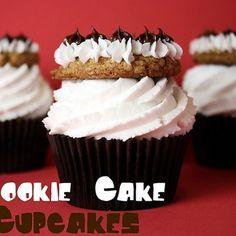Cookie Cake Cupcakes