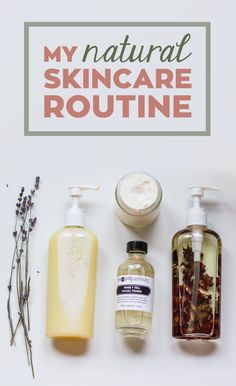 I've gotten to the point where everything I use on my face on a daily basis is handmade by me, which is pretty exciting. I'm often asked about my skincare routine — what products I use, how often I exfoliate, etc. So today, I'm sharing my 100% natural skincare routine with you! Click through for details.