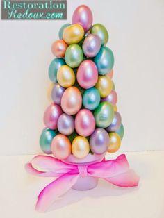 Árvores de ovos de Páscoa - dicas de como fazer