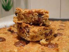 oatmeal raisin bars ... so very very good, recipe thanks to martha steward :)