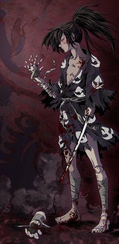 Dororo by MoMoRiddle on DeviantArt - My Manga Manga Anime, Fanarts Anime, Manga Art, Anime Guys, Anime Characters, Anime Art, Dark Fantasy, Character Art, Character Design