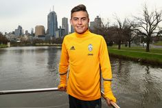 Paulo Dybala poses during a Juventus boat ride along the Yarra River on July 19, 2016 in Melbourne, Australia.