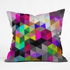 Three Of The Possessed Galaxy1 Throw Pillow | DENY Designs Home Accessories