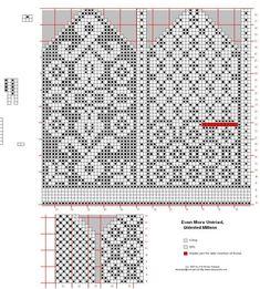 Billedresultat for selbu charts knitting Knitting Charts, Knitting Stitches, Knitting Designs, Free Knitting, Knitting Patterns, Crochet Mittens Free Pattern, Knit Mittens, Mitten Gloves, Fair Isle Chart
