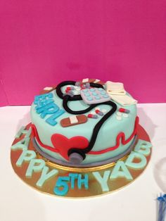 Full view of my doctors cake