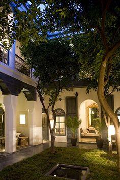 Moroccan Riad,marrakech, Morocco | Paradise | Pinterest ... Innenhof In Marokkanischem Stil Gestalten