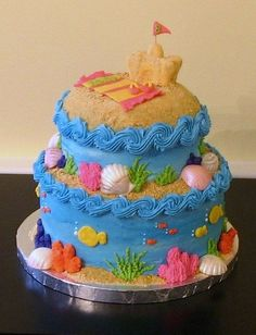 beach cake.  Love the wave trim
