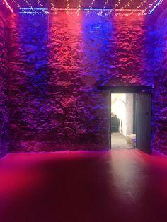 Blue & red barn lights. Barn Lighting, Lights, Abstract, Artwork, Red, Blue, Work Of Art, Summary, Lighting