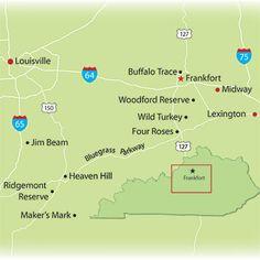 Bourbon Trail: Woodford Reserve, Wild Turkey, Four Roses, Jim Beam, Makers Mark