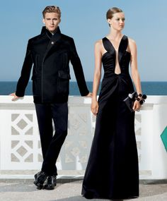 Lindsey Wixson and RJ King for Americana Manhasset Rj King, Holiday Suits, Lindsey Wixson, Giorgio Armani, Product Launch, Black And White, Celebrities, Womens Fashion, Model