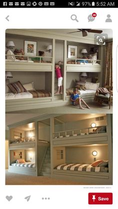 Lots of bunk beds. I love the idea of bunks - maybe because I had bunk beds when I was younger, maybe because of Red Dwarf. Love the central stairway/ladder.