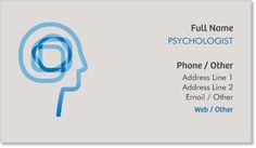 Sky Blue Psychologist Standard Business Cards, Modern Sky Blue Standard Business Cards | Vistaprint