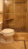 I need to do something interesting tile wise and maybe use a glass door for my upstairs bathroom.