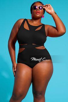 Plus Size Swimsuit - Monif C