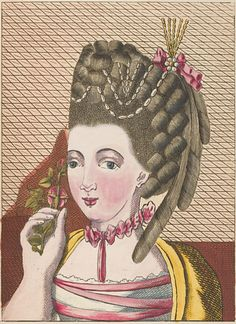 French Hairstyles in the 18th century, Legros de Rumigny (French), 1768-70, The Art of Hairdressing French Ladies, Engraving.