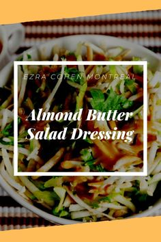 Make your own salad dressing for a healthier alternative to store bought options. Our quick and easy recipe uses almond butter to create a flavorful, creamy, and healthy salad dressing. Healthy Salads, Healthy Eating, Raw Almonds, Salad Dressing Recipes, Butter Recipe, Almond Butter, Healthy Alternatives, Recipe Using