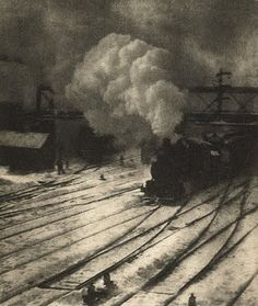 'In the New York Central Yards' (1903) / Alfred Stieglitz