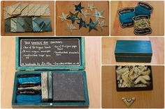 Wonder Boxes - by Louise. each wonder box is unique Boxes, Handmade Items, Teal, Paper, Unique, Gifts, Crates, Presents, Box