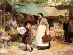 The Flower Market ~~ Victor Gabriel Gilbert 1847-1933
