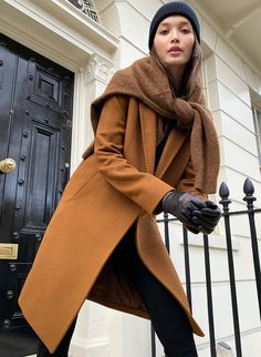 THE STEDMAN COAT - Lined, wool coat Thick Sweaters, Wrap Coat, Oversized Coat, Camel Coat, Jacket Dress, Coats For Women, Fashion Outfits, Single Breasted, Purple Outfits
